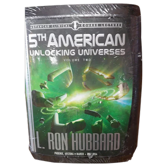 5th American Unlocking Universes Volume 2 by L Ron Hubbard  Lecture Series Scientology Audio CD Set