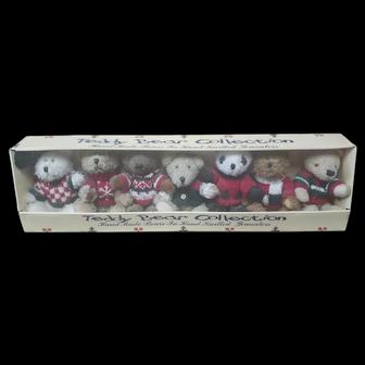 Vintage Hugfun International, Inc. Christmas Teddy Bear Collection