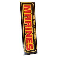 Vintage The Few. The Proud Marines Bumper Sticker