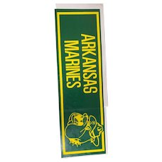Vintage Arkansas Marines Bumper Sticker