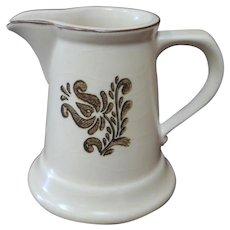 Pfaltzgraff Village Stoneware Creamer Pitcher 6-24 Beige Pottery USA