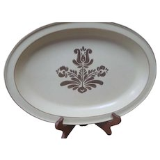 "Pfaltzgraff Village Stoneware 14"" Serving Platter 6-24 Beige Pottery USA"