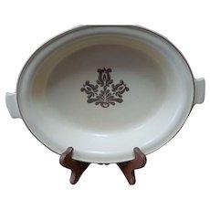 "Pfaltzgraff Village Stoneware 9.5"" Handled Casserole Dish 6-24 Beige Pottery USA"