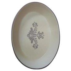 "Pfaltzgraff Village Stoneware Oval 10"" Casserole Dish 6-24 Beige Pottery USA"