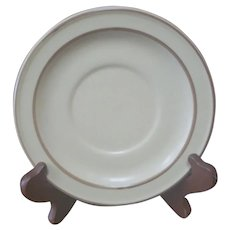 """Pfaltzgraff Village Stoneware 6.25"""" Saucer 6-24 Beige Pottery USA"""