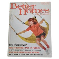 Better Homes and Gardens October 1968