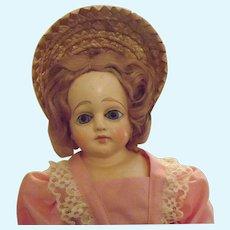 Unmarked Paper Mache doll