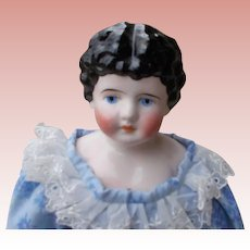 German Pink  Luster Cling China Doll