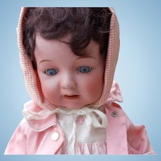 Large Antique Bisque Nippon Character Baby Doll