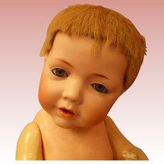 Antique Kestner Hilda Baby with Skin Wig