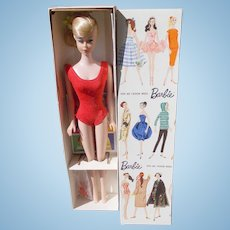 Wonderful Vintage Blonde Swirl Ponytail Barbie MIB