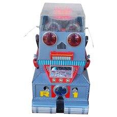 Vintage 1960''s R-1 Tin Robotank by Nomura Robot