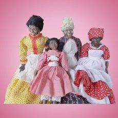 Wonderful Family of 4 Maggie Head Dolls