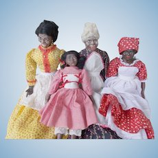 Wonderful Family of 4 Maggie Head Dolls