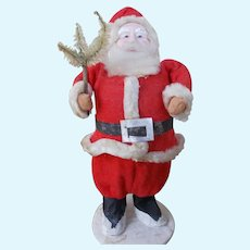 Antique Paper Mache Santa with Tree