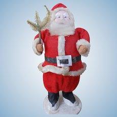 Antique Paper Mache Santa with Tree