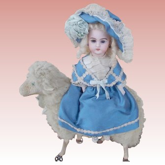 Antique Simon Halbig Made for the French Trade Riding Her Lamb