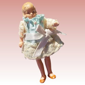 German All Bisque Molded Hair Flapper