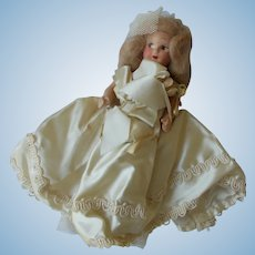 Vintage Unmarked Composition Bride Doll