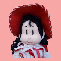 "SUPER RARE 1940's Georgene Averill 16"" Cloth Little LULU ""COWGIRL ""Doll"