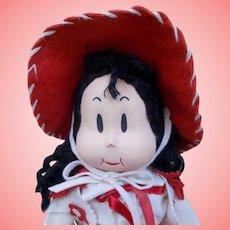 "SUPER RARE 1940's Georgene Averill 16"" Cloth Little LULU ""COWGIRL ""Doll"