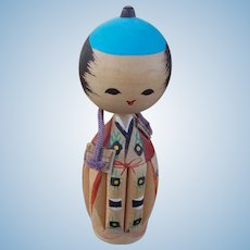 Vintage All Wooden Japanese Doll