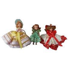 3 Vintage Plastic Dolls 1 is a Storybook