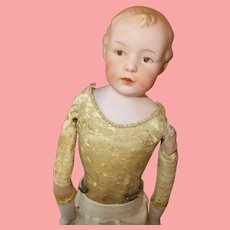 """Antique 12.5"""" Gebruder Heubach Character Pouty Boy"""