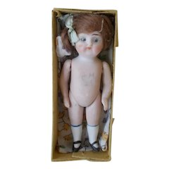 """Antique German All Bisque Mint in Box 4.5"""""""