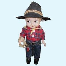"Wonderful  Vintage Hard Plastic ""Buddy Lee"" Cowboy"