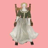 Rare Blonde 1860's China Flat Top on Original Body