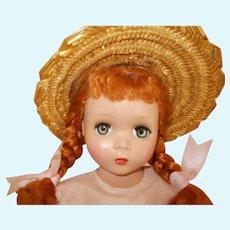 "Vintage Madame Alexander ""Polly Pigtails"" Red Head"