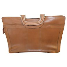 Light Brown Leather Briefcase