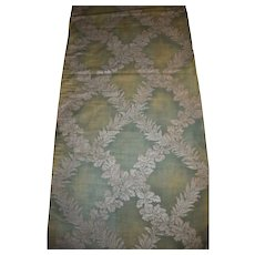"""Fortuny Circa 1910 Cotton Fabric in his """"Crosoni"""" Pattern on a Sage Green Ground"""