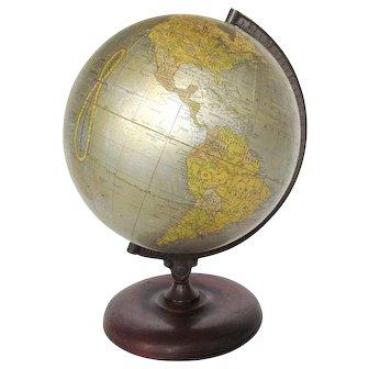 "Cram's Unrivaled Terrestrial 12"" Globe with Walnut and Iron Base"