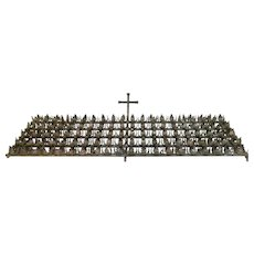 Early 20th Century French Metal Altar Rack with 100 Leaf Clusters