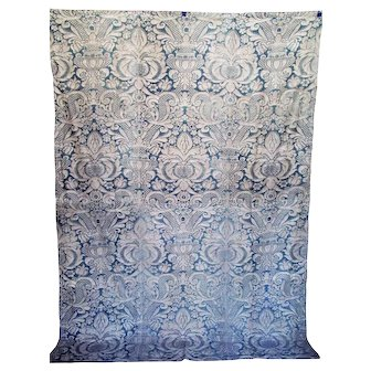 Rare, Early 1918 Fortuny in Blue/gray With Parchment Overlay