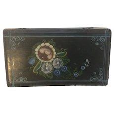 Folk Art Hand Painted Box