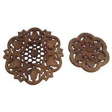 Beautiful Bohemian Sheesham Wood Trivets