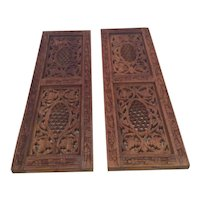 2 Bohemian Sheesham Wood Panels