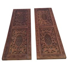 2 Bohemian Sheesham Wood Panels