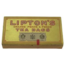 Lipton Teabag Tin circa 1921-1936