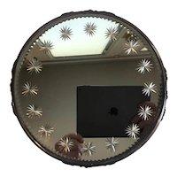 Ornate Etched Starburst Dresser Boudoir Mirror