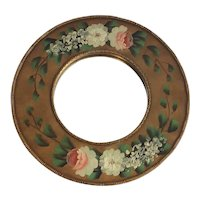 Hand painted Floral Round Mirror