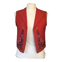 Wool Melton size 44 (L) Embroidered Austrian Vest