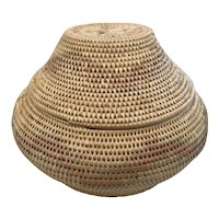 Paiute Indian Basket with Lid