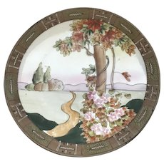 Beautiful Hand Painted Nippon Cabinet Plate