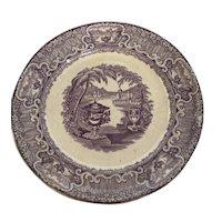 Washington Vase Mulberry Plate