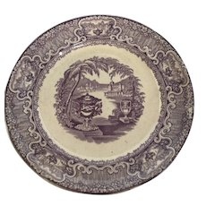 Washington Vase Mulberry Plate