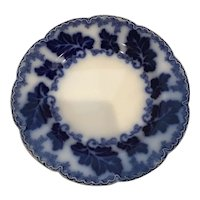 """Johnson Brothers Flow Blue Luncheon/Salad Plate 8 3/4"""" Normandy Pattern"""